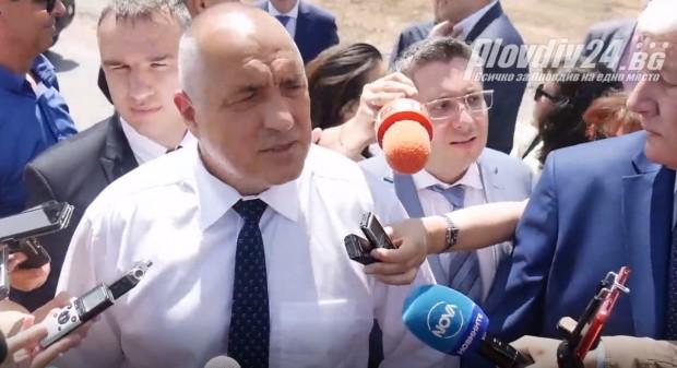Бойко Борисоввъзхитен от новия път Пловдив - Асеновград