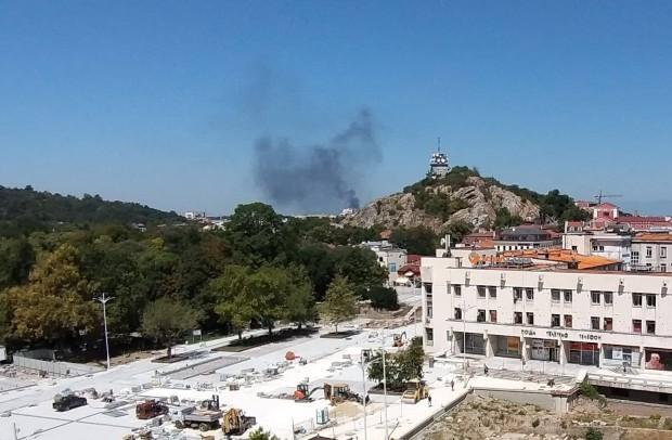 Голям пожар в покрайнините на Пловдив