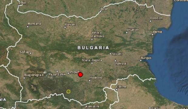 Земетресение на 28 км източно от Пловдив!